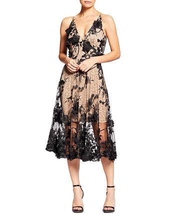 Кружевное платье Audrey с цветочной аппликацией Dress the Population