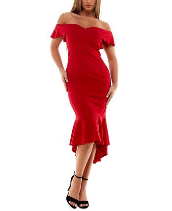 Облегающее платье с открытыми плечами для юниоров Emerald Sundae