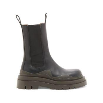 Кожаные ботинки челси из шин Bottega Veneta