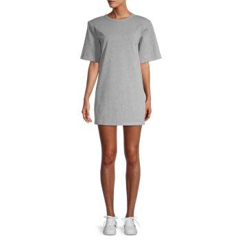 Платье-футболка с мягкими плечами Endless rose