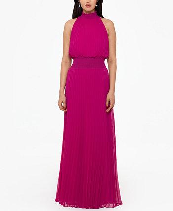 Плиссированное шифоновое платье XSCAPE