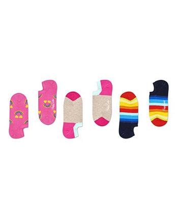 Женские 3 пары носков Happy Rainbow Liner Happy Socks