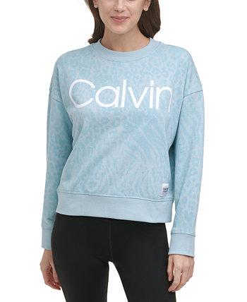 Свитшот с принтом френч терри Calvin Klein