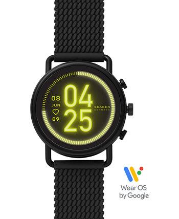 Унисекс Фальстер 3 черный силиконовый ремешок с сенсорным экраном Smart Watch 43mm Skagen