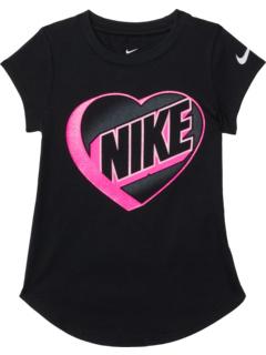 Футболка с рисунком сердца (для маленьких детей) Nike Kids
