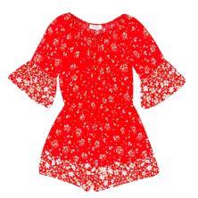 Girls 7-16 Speechless Border Embroidery Long Sleeve Romper Speechless