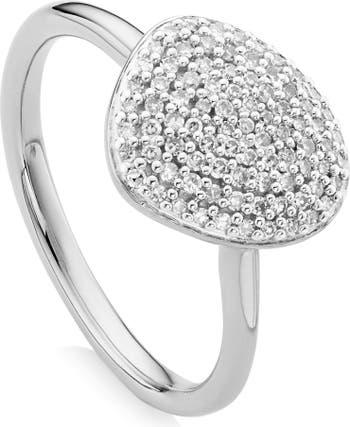 Кольцо Nura Diamond Pebble Stacking Ring MONICA VINADER