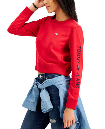 Толстовка с логотипом на рукавах Tommy Jeans