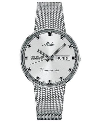 Мужские швейцарские часы с браслетом из нержавеющей стали 37мм MIDO