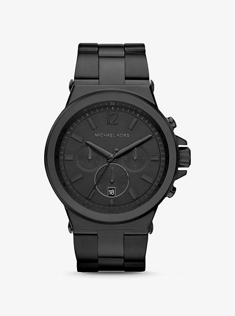 Крупногабаритные часы Dylan в черном цвете Michael Kors