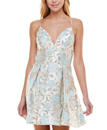 Юниорское платье из жаккарда с эффектом металлик B Darlin