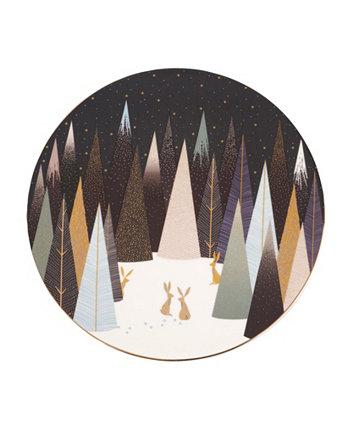 Сервировочная тарелка Sara Miller Frosted Pines, 9 дюймов Portmeirion
