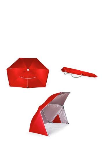 Brolly-Beach Umbrella - Red Picnic Time