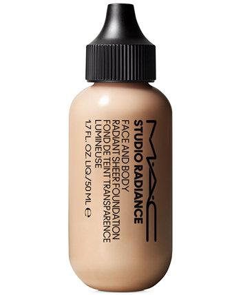Тональный крем Studio Radiance Face & Body Radiant Sheer Foundation, 1,7 унции. MAC Cosmetics