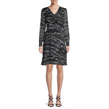 Платье с принтом и оборками Karl Lagerfeld Paris