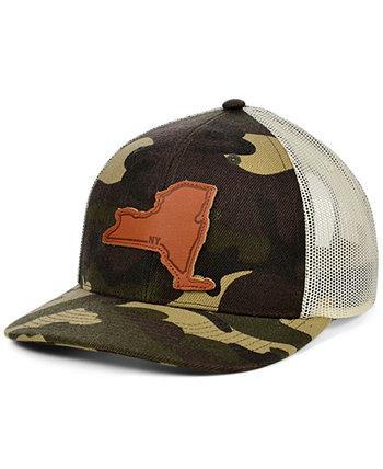 Изогнутая кепка с кожаной нашивкой Local Crowns New York Woodland Lids