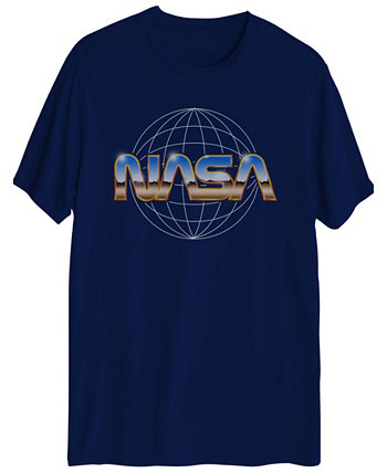 Мужская футболка с коротким рукавом и графикой с логотипом Nasa Chrome Hybrid