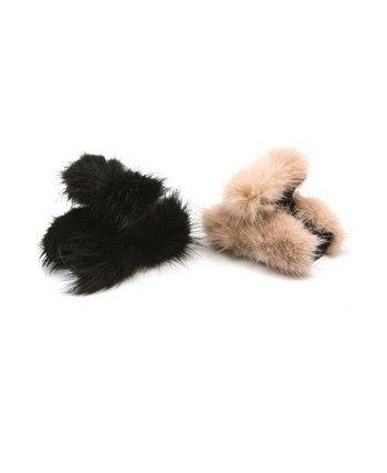 Челюсти для волос Fuzzy Pom Pom, набор из 2 шт. Soho Style