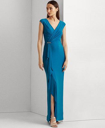 Платье из джерси с оборками Ralph Lauren