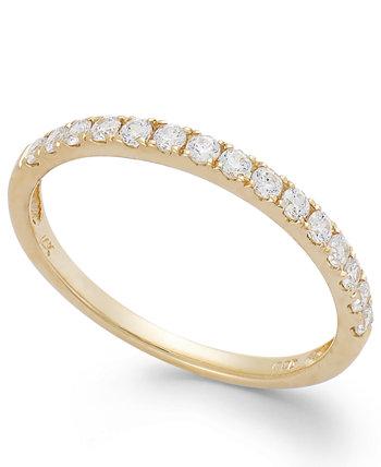 Кольцо из белого или желтого золота 14 карат, обручальное кольцо из циркония Сваровски (1 карата) Arabella