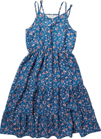 Многослойное платье макси без рукавов AVA AND YELLY