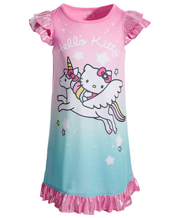 Toddler Girls Shimmer Nightgown Hello Kitty