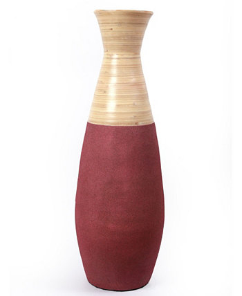 """Handcrafted Bamboo Floor Vase, 31.5"""" Tall Uniquewise"""