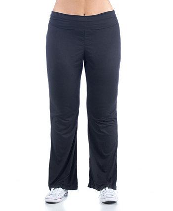 Женские спортивные штаны больших размеров с откидной талией 24seven Comfort Apparel