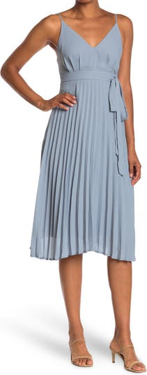 Плиссированное платье-миди KENEDIK