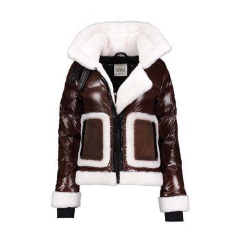 Байкерская куртка Veronica с короткой шерстью Sam.