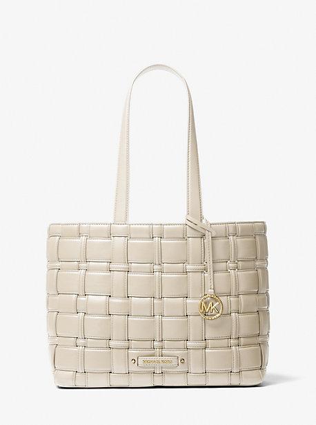 Плетеная большая сумка Ivy среднего размера Michael Kors