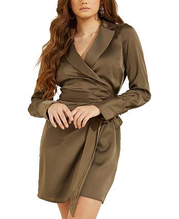 Eden Collared Wrap Dress GUESS