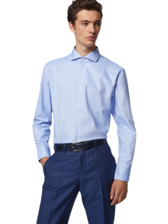 Хлопковая классическая рубашка Mark Slim Fit от BOSS BOSS Hugo Boss