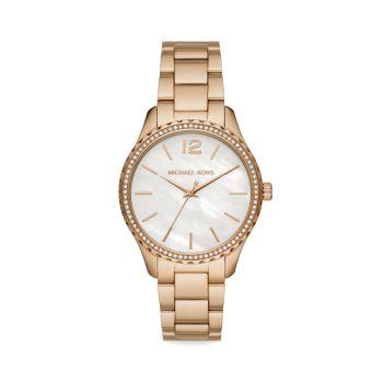 Layton Pavé & amp; Часы с браслетом из нержавеющей стали Goldtone Michael Kors