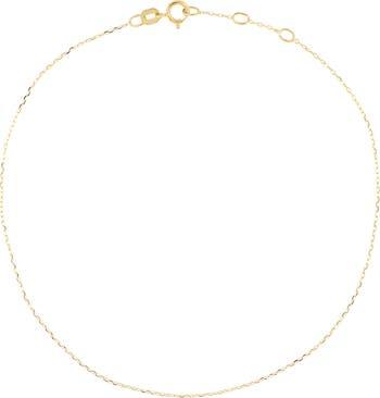 Ножной браслет с тонкими звеньями из 14-каратного золота Bony Levy
