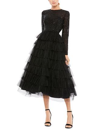 Sequin-Top A-Line Dress MAC DUGGAL