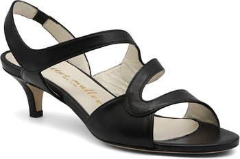 Sandy Leather Strappy Kitten Heel Sandal Bettye Muller
