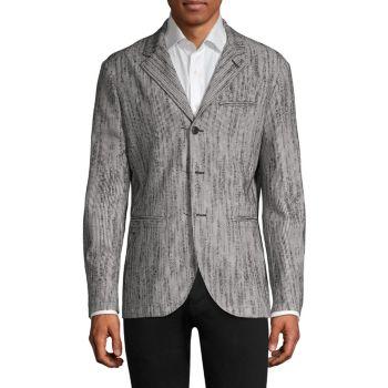 Пиджак Easy-Fit из смесовой шерсти John Varvatos