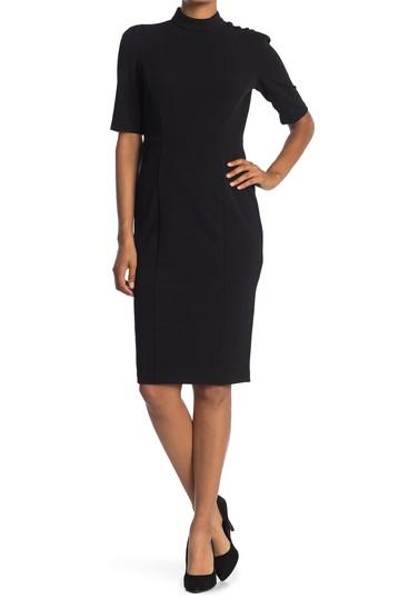 Платье-футляр с воротником-стойкой Donna Morgan