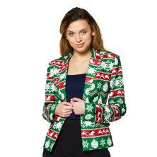 Women's Suitmeister Christmas Green Nordic Blazer Suitmeister