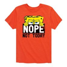 Футболка с рисунком Spongebob Squarepants Not Today для мальчиков 8-20 Nickelodeon
