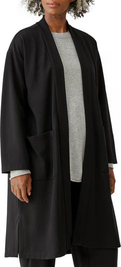 High Collar Belted Jacket Eileen Fisher
