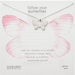 Следуй за своими бабочками Большое красивое колье с бабочкой Dogeared