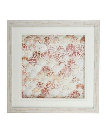 Картины из натуральной фанеры в белой раме с потертостями - Корпус вентилятора / PS / стекло / картон Two's Company