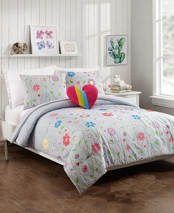 Комплект из 4 предметов для растущего сада, полный / королевский одеяло Jessica Simpson