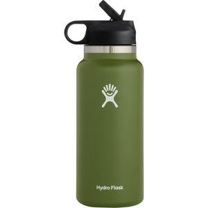 Бутылка для воды с широким горлом Hydro Flask на 32 унции и соломенной крышкой 2.0 Hydro Flask