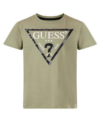 Классическая футболка с короткими рукавами и логотипом Big Boys GUESS