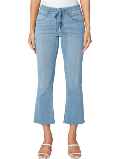 Drawstring Crop Flare with Cut Hem in Rayville Liverpool