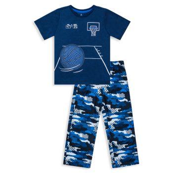 Пижамный комплект из двух частей топ и штанов для мальчиков Sleep Multisports Petit Lem