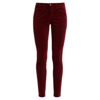 Бархатные узкие брюки Marguerite с высокой посадкой L'AGENCE